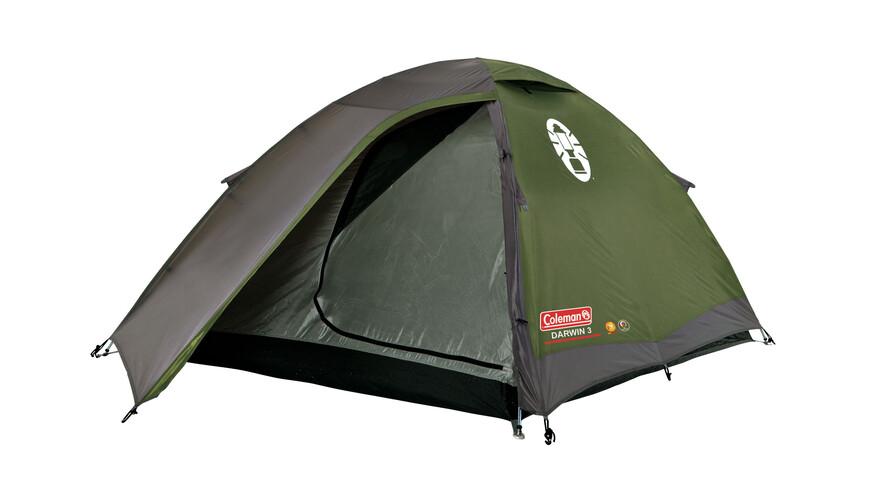 Coleman Darwin 3 tent grijs/groen